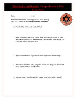 The Devil's Arithmetic Comprehension Quiz