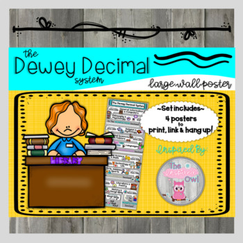 Dewey Decimal System Large Wall Poster