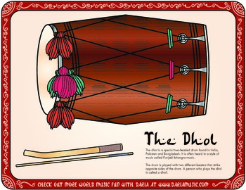 Instruments From India - The Dhol Drum
