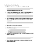 """""""The Diary Of Anne Frank"""" Act I Review Questions"""
