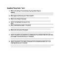 """""""The Diary Of Anne Frank"""" Act II Review Questions"""