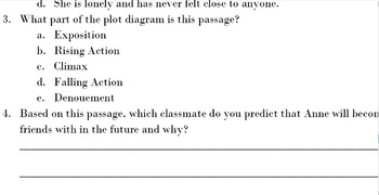 The Diary of Anne Frank Act I, Sc. 1 Standardized Test Practice