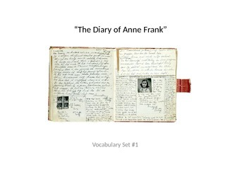The Diary of Anne Frank: Act I Vocabulary PowerPoint