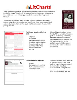 The Diary of Anne Frank – Comprehension and Analysis Bundle