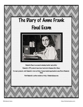 The Diary of Anne Frank Final Exam Test