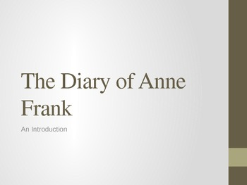 The Diary of Anne Frank - Intro