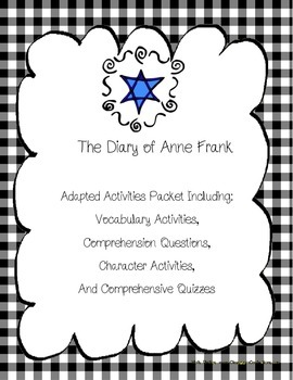 The Diary of Anne Frank Novel Unit Packet