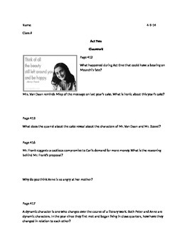 The Diary of Anne Frank OEQ Part 2