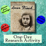 The Diary of Anne Frank One-Day Research Activity