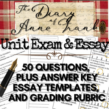 The Diary of Anne Frank Complete Unit Comprehension Exam