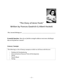 """The Diary of Anne Frank"" Student Journal"