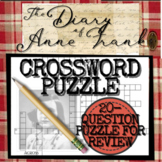 The Diary of Anne Frank Novel and Play Activity: Crossword Puzzle