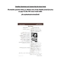 The Diary of Anne Frank, Timeline Questions, Answer Key, Intro to Anne Frank