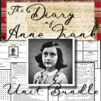 The Diary Of Anne Frank Complete Unit Bundle 70 Pages Slides Of