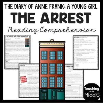 The Diary of Young Girl-  Arrest of Anne Frank Reading Comprehension Worksheet