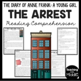 The Diary of Young Girl Arrest of Anne Frank Reading Comprehension Worksheet