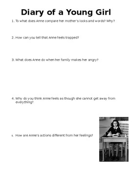 The Diary of a Young Girl Mini-Quiz