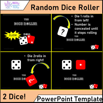 The Dice Roller - PowerPoint Template for Probability and Games