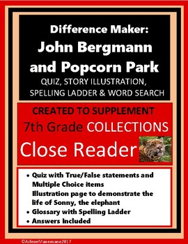 The Difference Maker: JOHN BERGMAN and POPCORN PARK Quiz & Activities