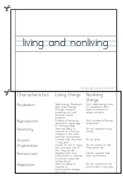 The Difference between Living and Non-living Things