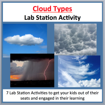 The Different Types of Clouds - 7 Lab Station Activities