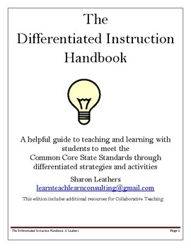 The Differentiated Instruction Handbook