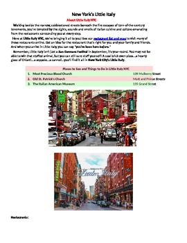 The Diffusion of Little Italy