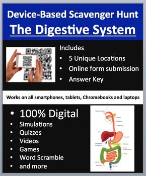The Digestive System - Device-Based Scavenger Hunt Activit