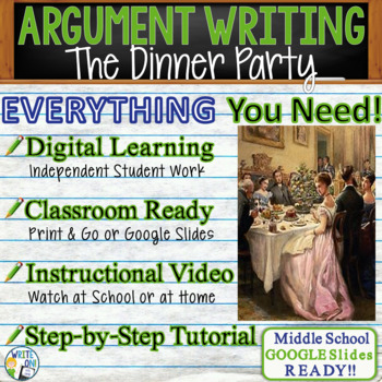 The Dinner Party by Mona Gardner - Text Dependent Analysis Argumentative Writing