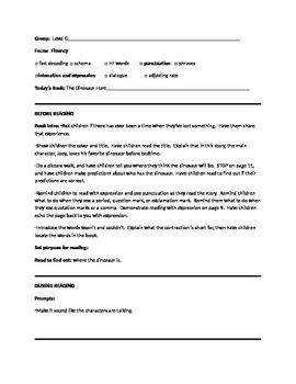 The Dinosaur Hunt Guided Reading Lesson Plan