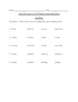 The Dinosaurs of Waterhouse Hawkins Differentiated Spelling (Reading Street)