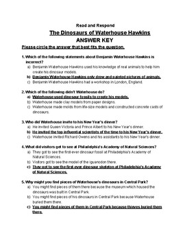 The Dinosaurs of Waterhouse Hawkins - Read and Respond Reading Street 5.1