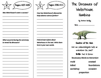 The Dinosaurs of Waterhouse Hawkins Trifold - Reading St 5th Gr Unit 3 Week 3