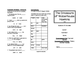 The Dinosaurs of Waterhouse Hawkins Trifold (Reading Street 2011 Edition)