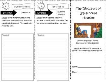 The Dinosaurs of Waterhouse Hawkins Trifold Reading Street 5th GradUnit 3 Week 3