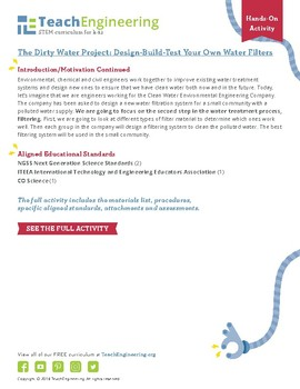 The Dirty Water Project: Design-Build-Test Your Own Water Filters