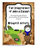 The Disappearance of Amelia Earhart Analyzing Multiple Accounts Webquest