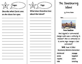The Disappearing Island Trifold - Imagine It 3rd Grade Unit 5 Week 4