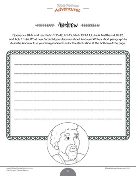 The Disciples: Creative Writing & Coloring workbook