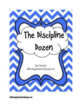 The Discipline Dozen (Chevron)-appropriate/inappropriate b