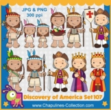 The Discovery of America, Columbus Clipart, Columbus day, Set 107