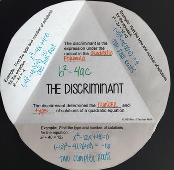 The Discriminant Foldable