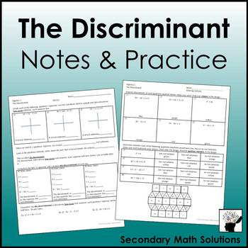 The Discriminant Notes & Coloring Practice
