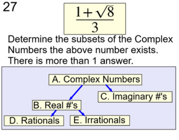 The Discriminant, Quadratic Formula, 2 Lessons & 3 Assignm