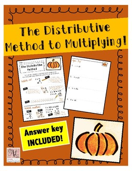 The Distributive Method to Mulitplication Practice