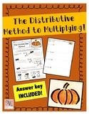 The Distributive Method to Mulitplication Practice