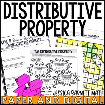 The Distributive Property Lesson Bundle