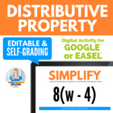 The Distributive Property Digital Activity for Google Drive