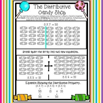The Distributive Property Candy Shop (Distributive Property of Multiplication)