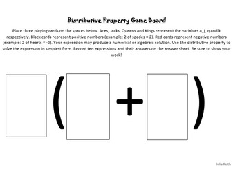 The Distributive Property Card Game